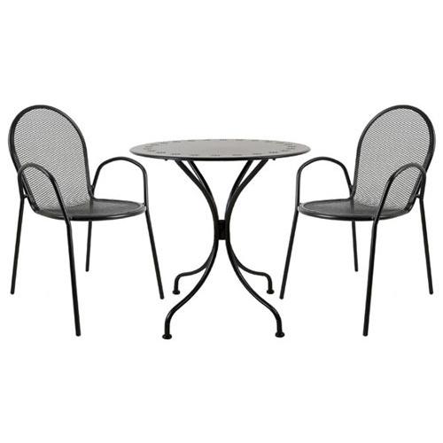 둥근망세트 / 야외용 철재 정원 티테이블 카페테이블 커피숍의자 ...